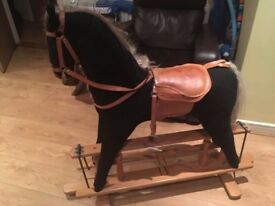 Large Wooden Rocking Horse