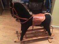 Large Wooden Rocking Horse