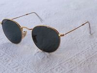 RAY-BAN Round Sunglasses RB3447 112/58-Matte Gold *POLARISED* 50mm - Excellent Condition