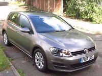 V.W GOLF 2.0 TDI 150 SE BLUEMOTION AUTOMATIC START/STOP,HPI CLEAR,1 OWNER,ADAPTIVE CRUISE,ALLOYS,A/C