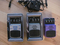 3 Effects Pedals, Overdrive/Reverb/Octaver/9V power supply/5 way daisy chain.