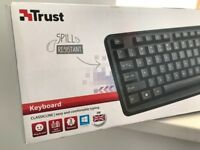 Trust ClassicLine Spill-Resistant Wired USB Keyboard