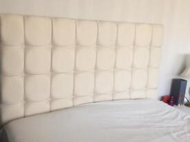 Double bed headboard only cream NEW