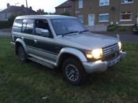 Winter 4wd Mitsubishi pajero exceed 2.5 turbo diesel automatic 7 seater long mot