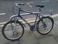 Large Raleigh Savannah urban hybrid bike, ideal for tall people!