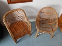 Pair of childrens whicker seats