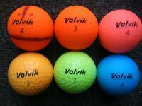 8 Volvic golf balls in superb condition photo show 6 other 2 crystal n i4pc