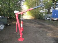 AS NEW HYDRAULIC MINI CRANE 900KG IDEAL TRAILER / TRUCK ETC......