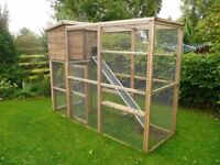 Cat Run and Kennel - 3ft Wide with Extra Climbing Shelves