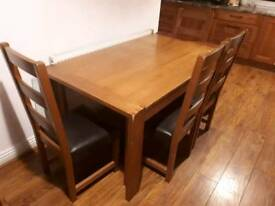 Wooden Dining Table Set & 6 Chairs