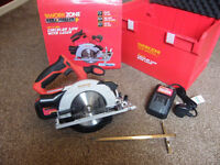 Cordless Circular Saw with Laser Guide - Workzone Titanium+ 18V Li-Ion - Brand New Unopened