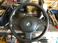 Used, Bmw e46 e39 m sort steering wheel with airbag for sale  Mildenhall, Suffolk
