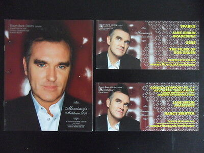 MORRISSEY'S MELTDOWN 2004 Programme + 2 x Flyers THE SMITHS / NEW YORK DOLLS