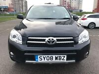 2008 NEW SHAPE TOYOTA RAV-4, 2.0 PETROL, MOT 2018, FULL LEATHER SEATS