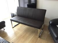 Brown bench chair