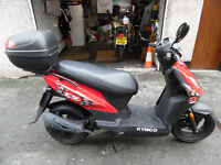 Kymco DJS50 49cc 2016,Kymco Scooter,DJ50S-Only 270mls!!, £970 ono.Garaged,Never ridden in the wet!