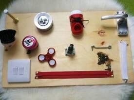 Handmade activity board