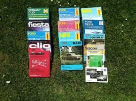 Various car manuals