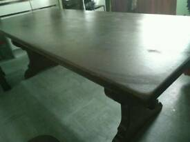 Solid Beech Dinning Table & Chairs