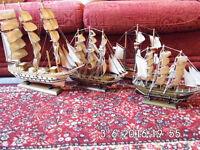 4 Models of vintage ships. £35 ono or will swap for anything interesting!