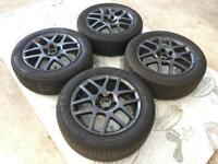 GENUINE VW GOLF MK4 BBS MONTREAL ALLOYS w/TYRES 205/55/16 - 5x100 POLO BORA SEAT SKODA - SLOUGH
