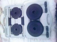 Dumbbells in a case a set of 15 kg