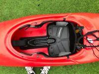 Dagger Kayak including, paddle, spray deck, buoyancy aid, helmet