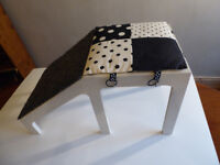 Nursery school furniture piece - children's play stool, like a shoe shop. East Belfast