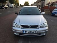 2003 VAUXHALL ASTRA ,SILVER AUTOMATIC ,LOW MILEAGE 30 K ONLY ,GRAB A BARGAIN