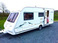 Compass omega 5 birth caravan top spec
