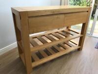 Oak sideboard / kitchen cupboard / island