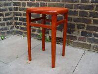 Retro Wooden Stool Vintage Furniture