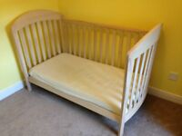 Mamas and Papas 'Northern Lights' range wooden cot
