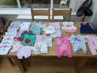 Baby girl clothing bundle up to 1 month ( Next, Mothercare etc)