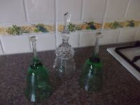 Three lovely glass bells very good condition