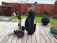 Golf club, bag and trolly