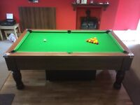 Pub Pool table 7 ft Slate bed tournament quality mint condition