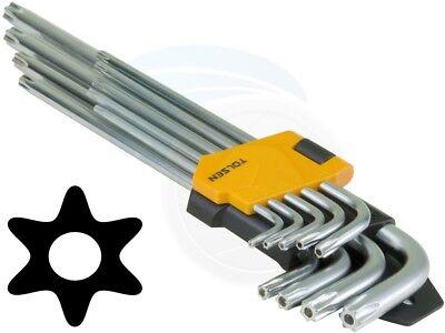8pc Fold-Up Hex Wrench Key Set T9-T40 Star Torxs Key Set Bicycle Bike Repair