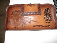 real leather wallet purse