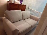 M&S Cream Fabric 2 seater sofa - Excellent Condition