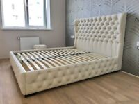 BEDS SLEIGH BEDS SWAN BEDS DOUBLE BEDS KING SIZE 5FT BEDS LEATHER BEDS ALL SIZES CRUSHED VELVET BED