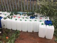 25 litres or 20 Litres plastic drum
