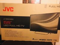 "BRAND NEW JVC 55"" INCHES LED TV FULL HD 1080P + FREEVIEW INBUILT CHANNELS"