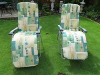 Set of 3 Hartman sunlounger cushions ( would split)