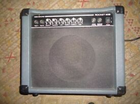 ROCKET 20 Watt Bass guitar combo amp - As new