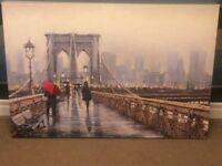 Large canvas of New York scene