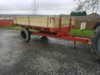 Tractor tipping trailer new wooden floor aluminium crossers