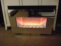 ELECTRIC FIRE PEBBLE FLAME EFFECT
