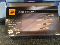 JCB 4 piece chisel set