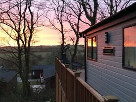 Luxury 20x40ft, corner pitch Willerby Portland Holiday Lodge on 12 mth park Juliots Well, Cornwall.
